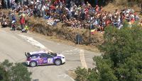 Rally del Casentino 2013 - DS3 WRC from Helicopter
