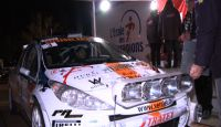 Rallye Pays Du Gier 2013 - S. Carron at Finish...